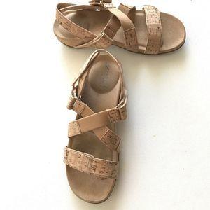 VANELI Cork Flat Sandals Adjustable Straps
